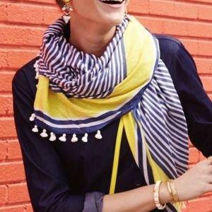 Stella & Dot striped tassel scarf